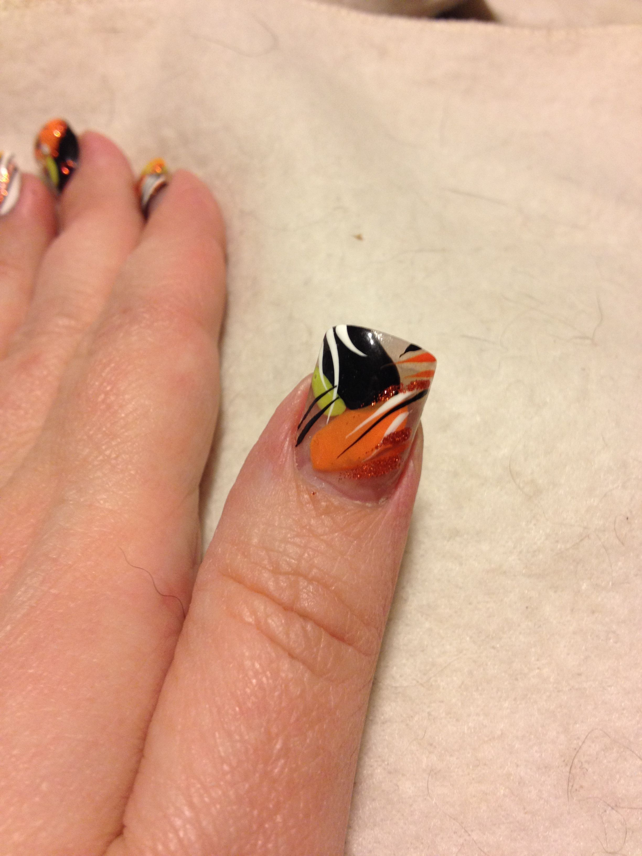 Halloween nails. Nicole by OPI, Sweet on Pete (Green ...