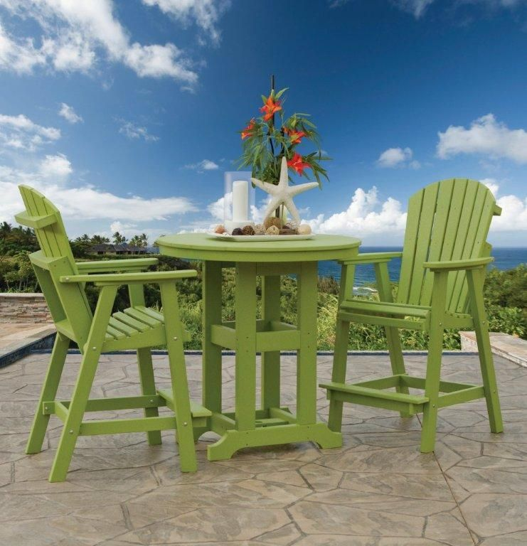 Berlin Gardens Comfo Back Outdoor Poly Bar Stool With Images