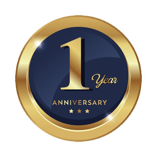 1주년 기념 휘장 표지 아이콘, 주년 기념, 1, 뭐야 PNG 및 벡터 에 대한 무료 다운로드
