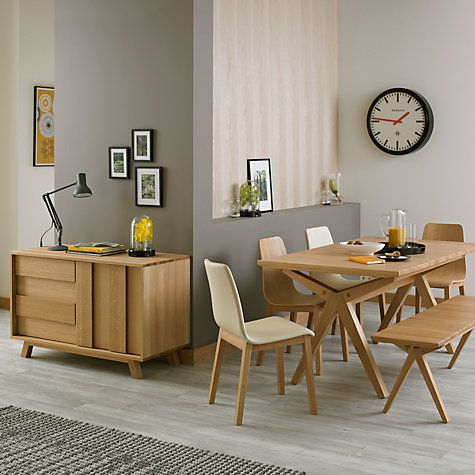 Buy Bethan Gray For John Lewis Noah Leather Upholstered Dining Chair Cream Online At Johnlewis