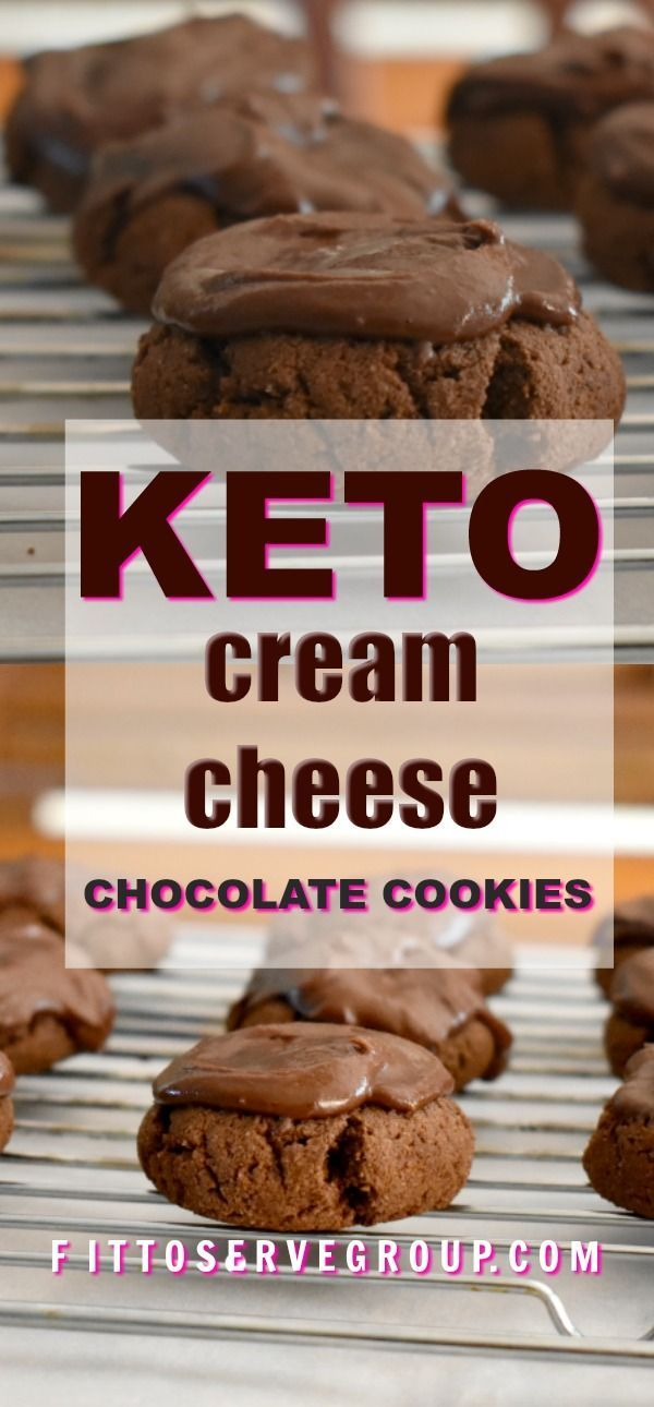 These are rich Keto Cream Cheese Chocolate Cookies that melt in your mouth, but that you can somehow still sink your teeth into. I hope that describes this cookie adequately. #ketocookies #lowcarbcookies #ketocreamcheesechocolatecookies #ketocookierecipes