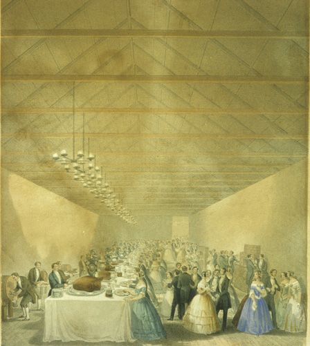 The Cyfarthfa Banquet Banquet Given By William Crawshay Esq To The Ladies Of Merthyr Tydfil And Its Vicinity Merthyr Tydfil New Bus Over The River