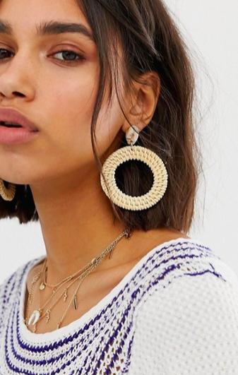 b00109f00 Liars & Lovers resin shell & raffia earrings in 2019 | accessories ...