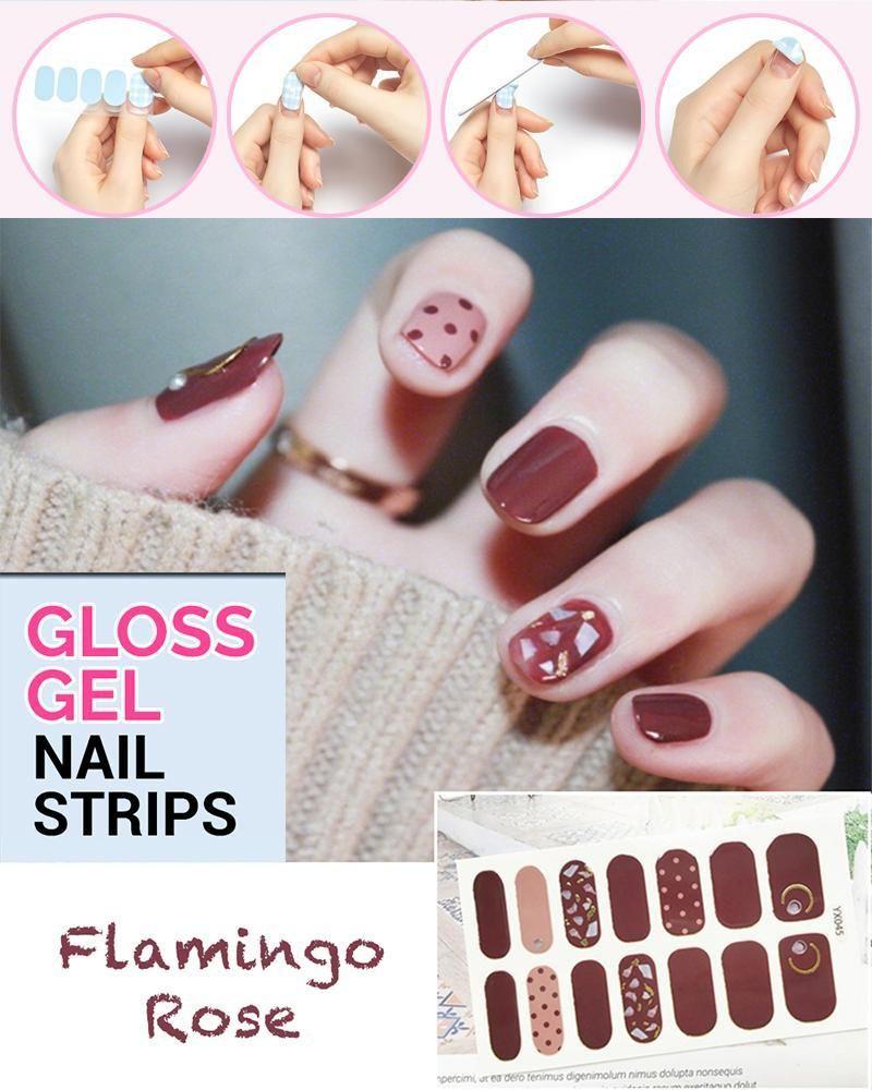Gloss Gel Nail Strips Gel Nails Nails Stick On Nails