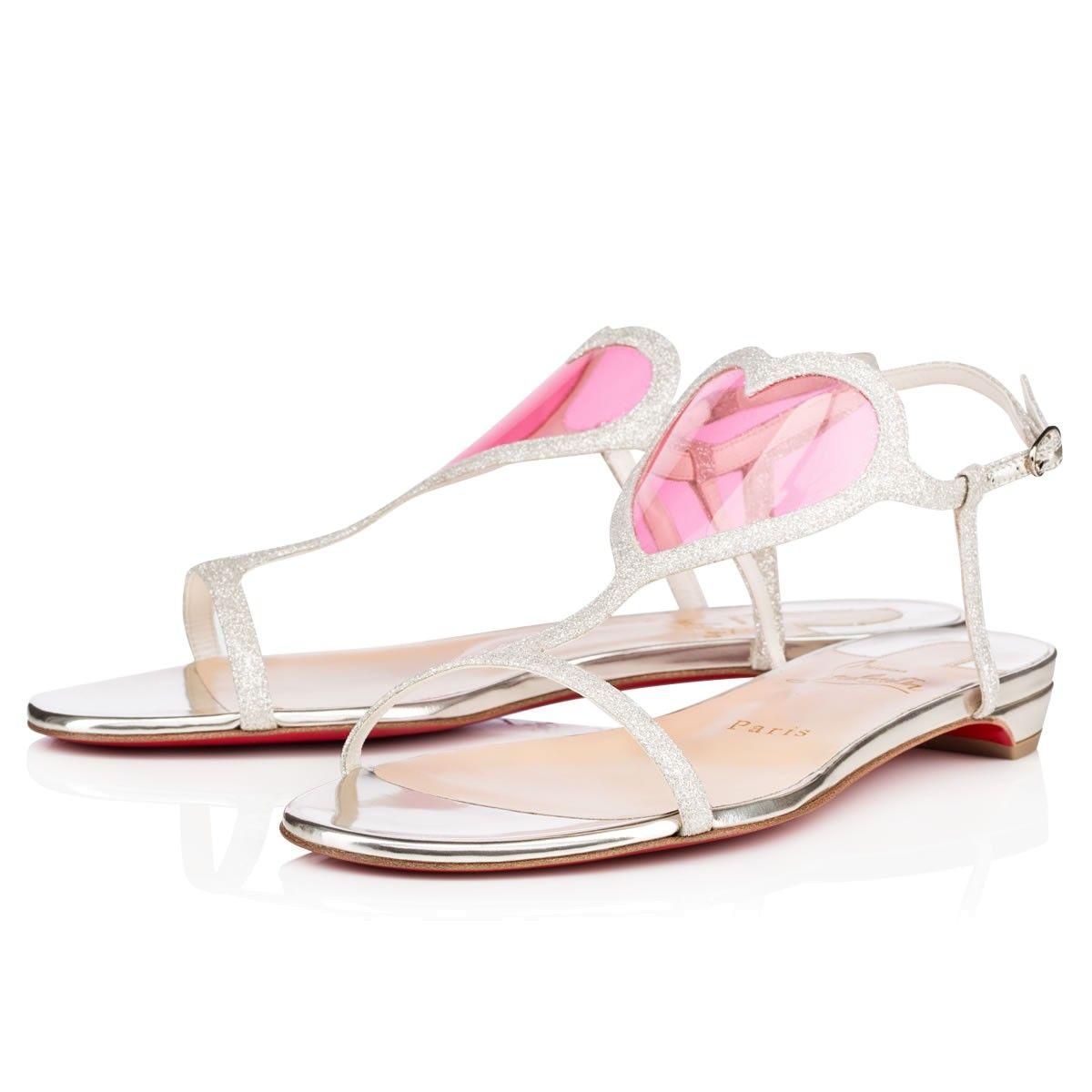 christian louboutin heart sandals