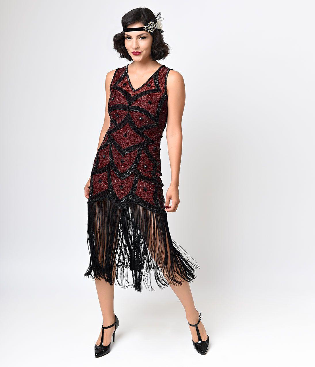 Vintage Style 1920s Flapper Dresses for Sale | Fringe flapper ...