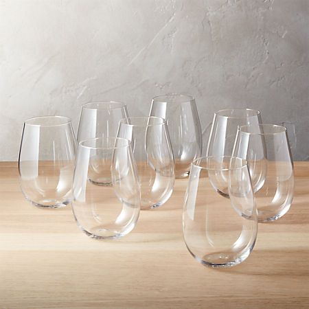 Set of 8 True Stemless Wine Glasses + Reviews | CB2