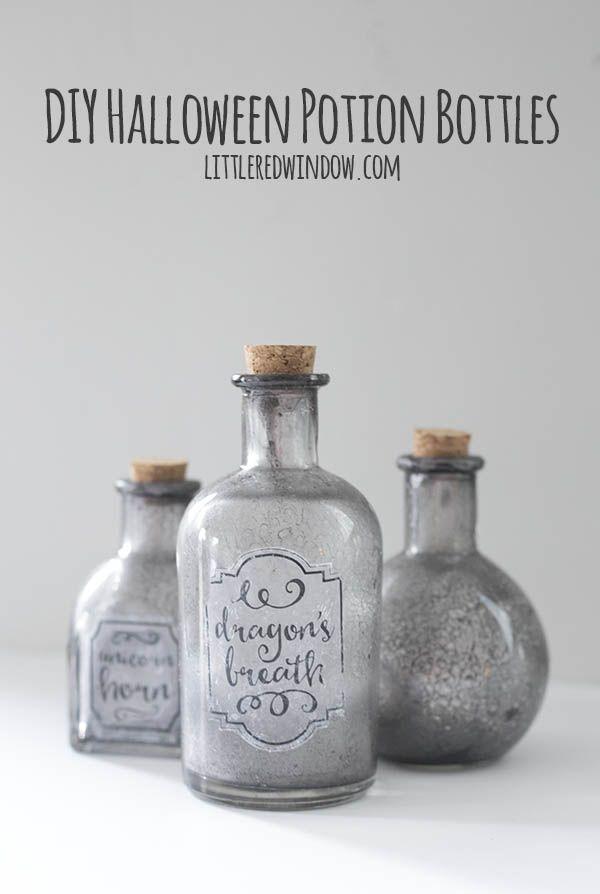 DIY Spooky Halloween Potion Bottles DIY ♥ Ideas ♥ Crafts