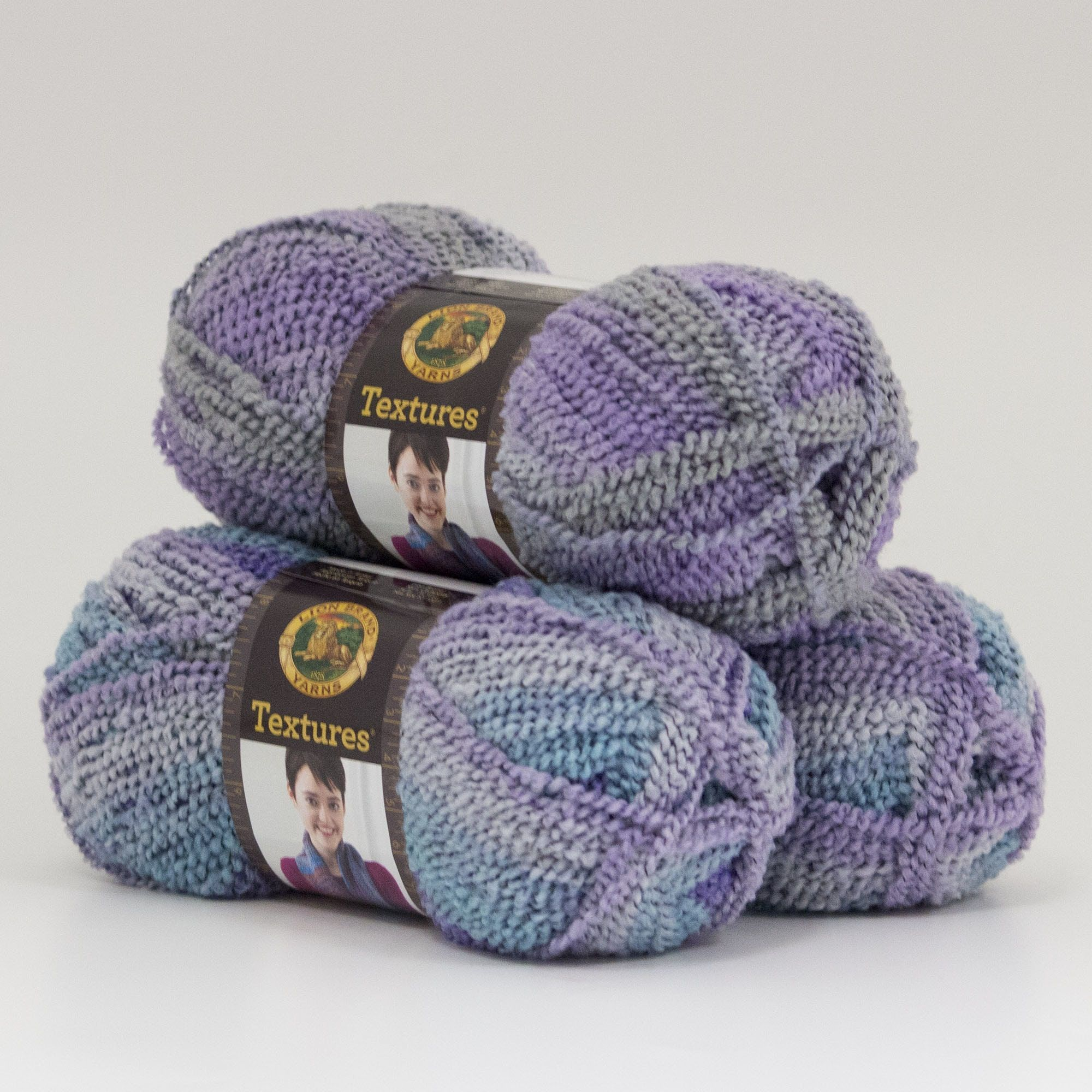 Lion Brand Yarn Textures Arctic Sky 931-203 3 Pack Fashion Yarn