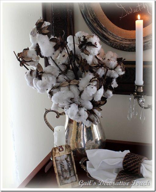 Bouquet Of Cotton Bolls Cotton Boll Cotton Decor Cotton Boll Decor