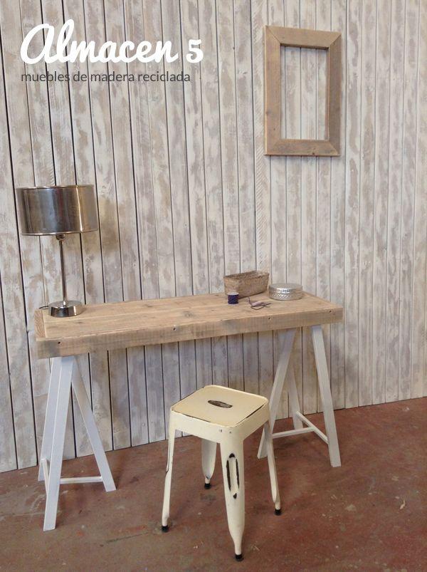 Escritorio de madera reciclada hacemos muebles a medida y a buen precio - Muebles de madera a medida ...
