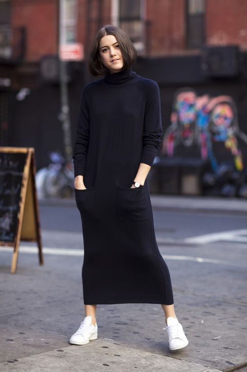 1ef45343ac1 9 Ways to Wear a Sweaterdress  The Easiest Solution to Your Wardrobe s  Midwinter Rut