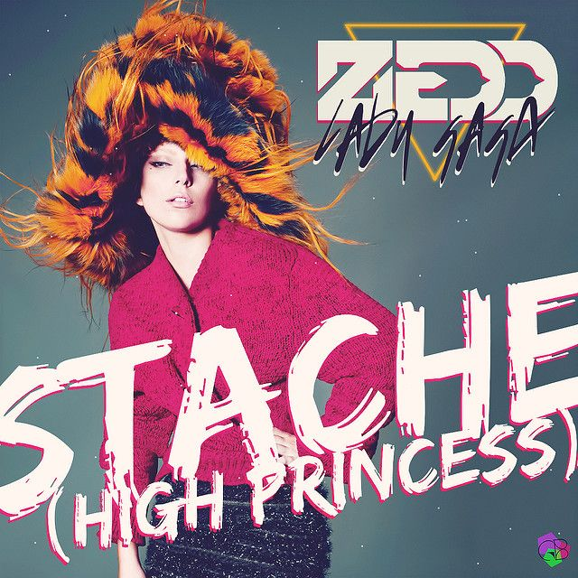 Zedd, Lady Gaga – Stache (single cover art)