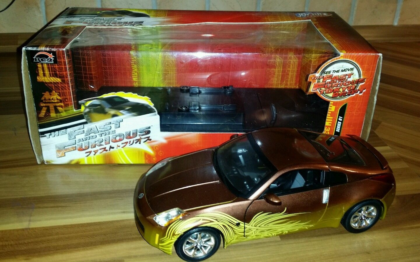 nissan 350z ovp 1 18 ertl joyride rc2 fast furious modell 2fast2furious ebay fast. Black Bedroom Furniture Sets. Home Design Ideas