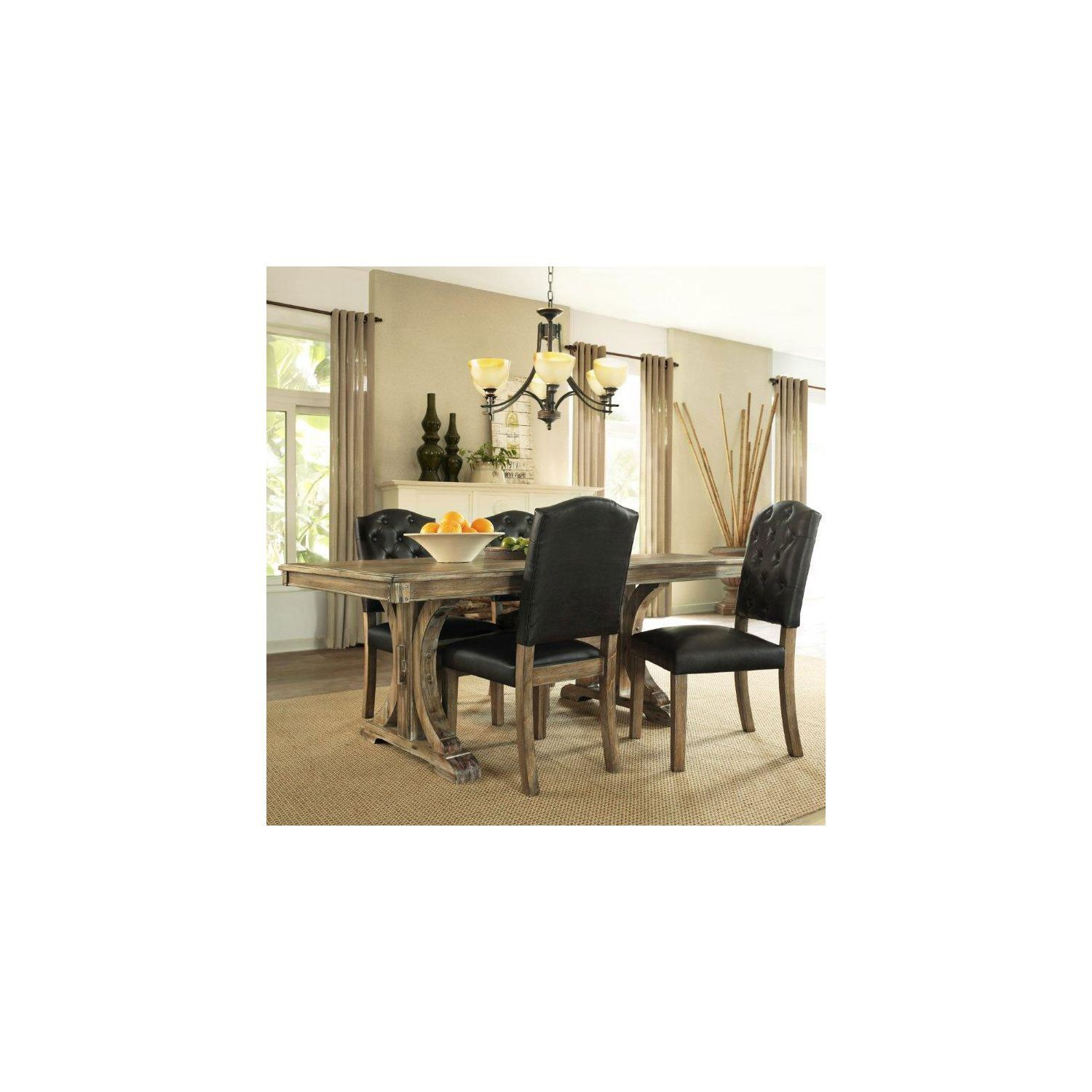 renee 5piece dining set  gold dining room chair gold