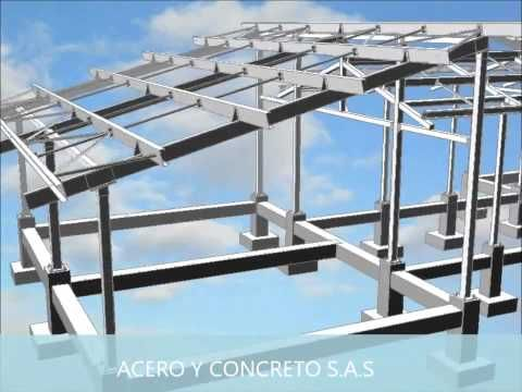 Estructura metalica acero y concreto sas youtube casas - Estructura metalicas para casas ...