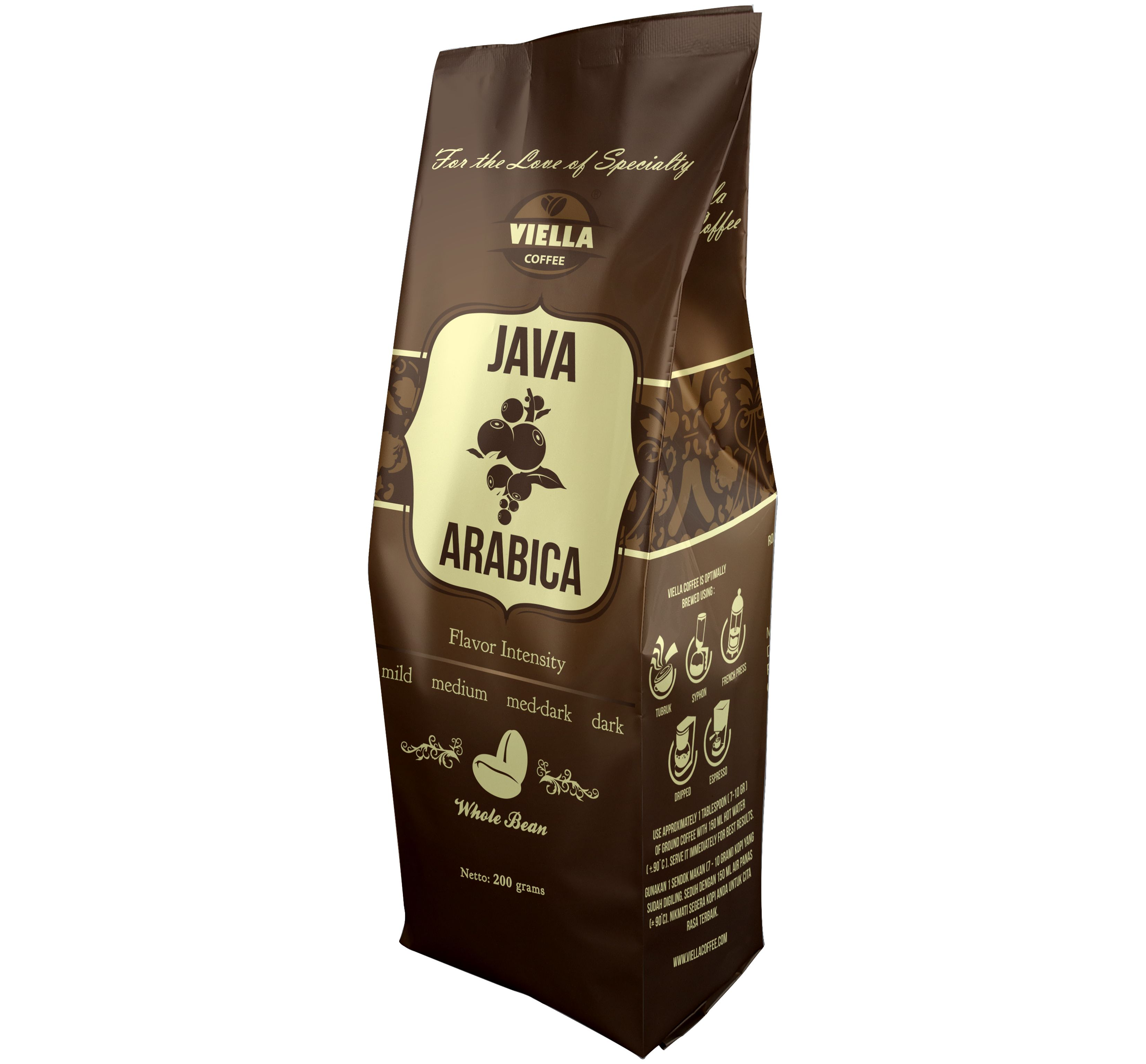 Java Arabica Coffee Design Side Gusset On Central Seal Bag Coffee Design Seal Design Arabica Coffee