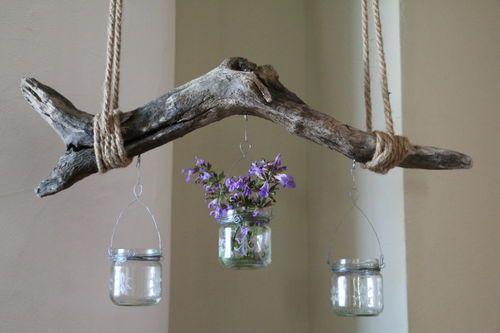 Treibholz Windlicht TECTUM – Hängewindlicht & -Vase am Treibholz