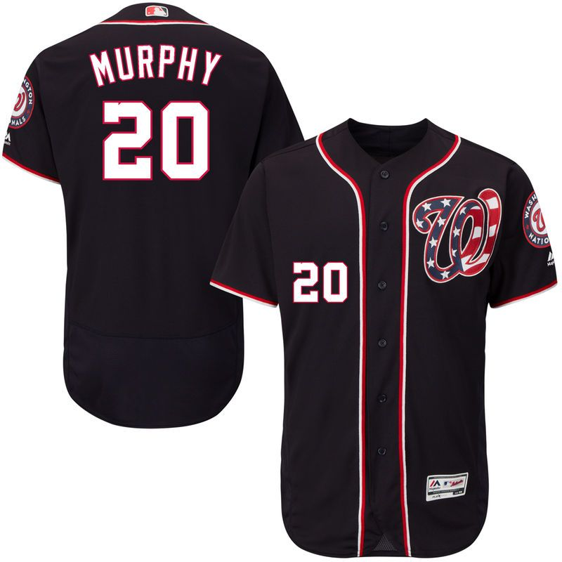 Daniel Murphy Washington Nationals Majestic Alternate Flex Base Authentic Collection Player Jersey - Navy