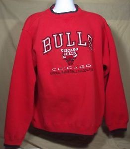 Mens CHICAGO BULLS Sweatshirt RED XL XLARGE Official NBA Jordan Rose $19.95
