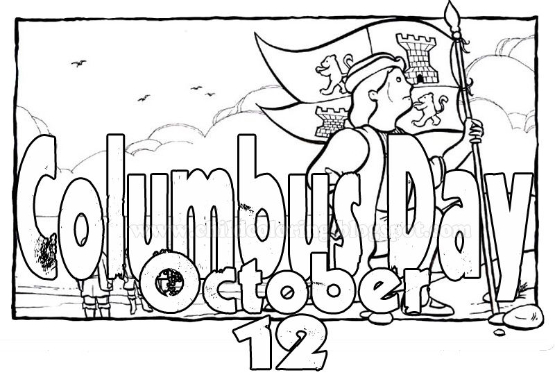 Columbus Day Coloring Pages | classroom Helpers | Pinterest ...