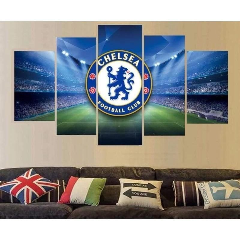 Chelsea Wall Art Painting Canvas Poster Print | Free Shipping – 22 x 40 Inch