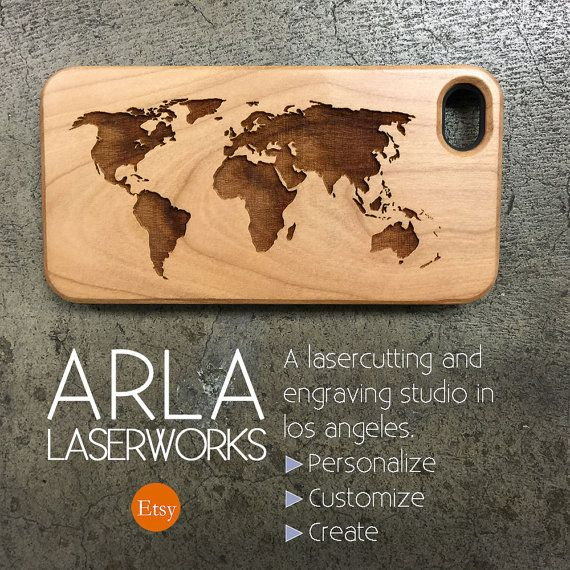 World Map Wood iPhone 6 Case Natural Wood Phone by ArlaLaserWorks - fresh world map iphone 5 background