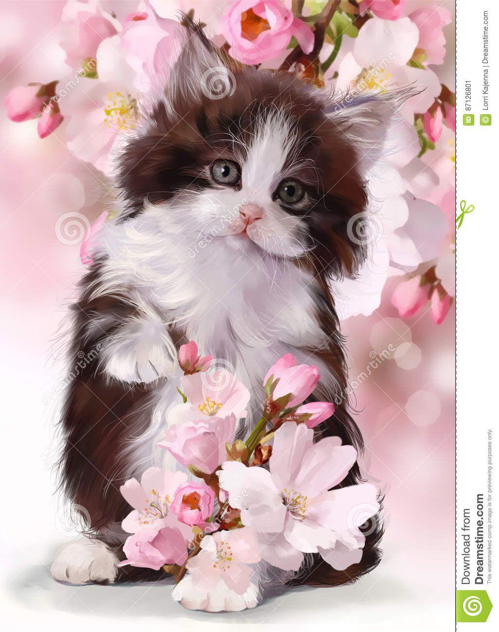 Image Result For Images Of Kitten Painting Gattini Piccoli Gattini Disegni Di Gatti