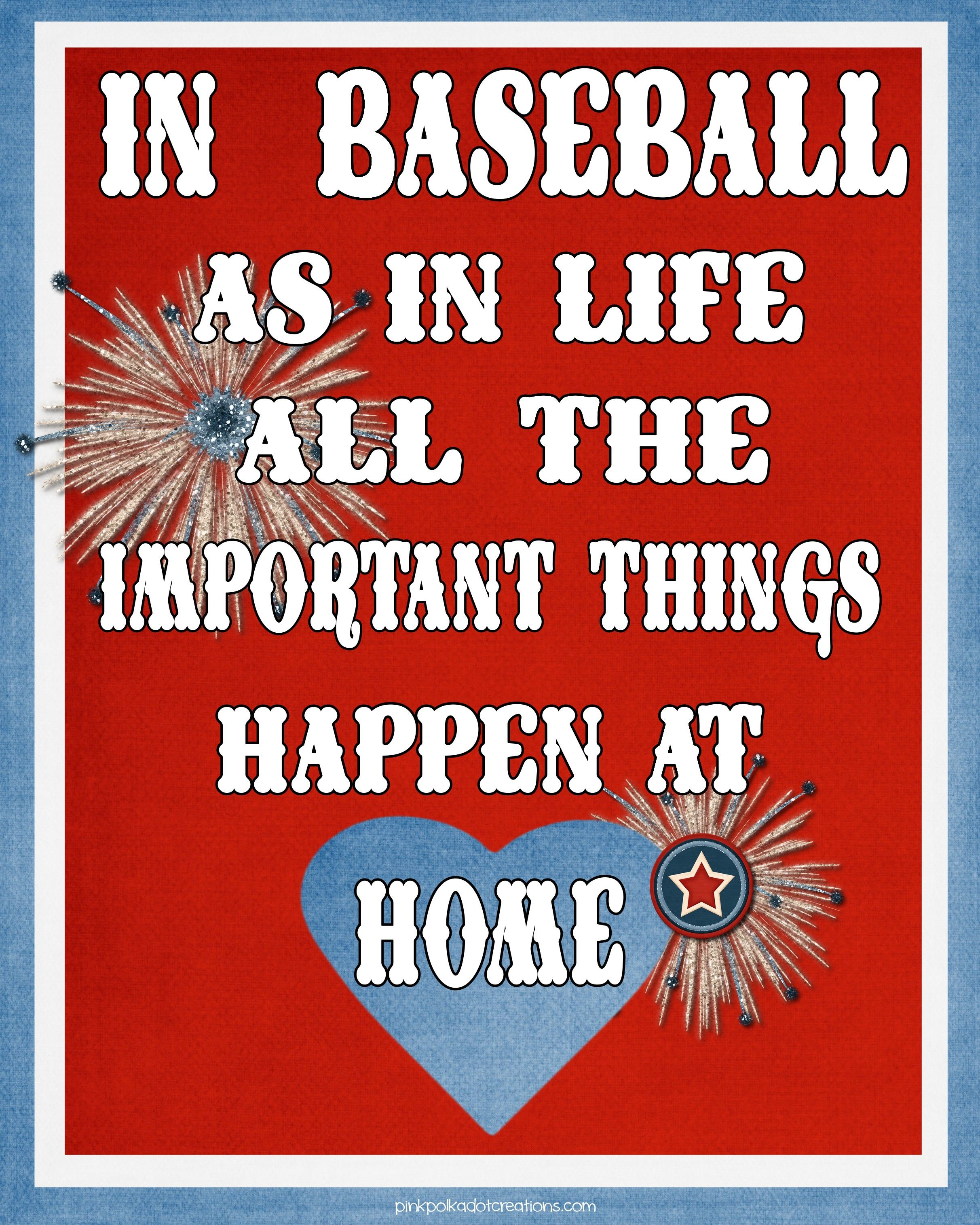Baseball Quotes About Life Pink Polka Dot Creations Thursdays Thought In Baseball As In