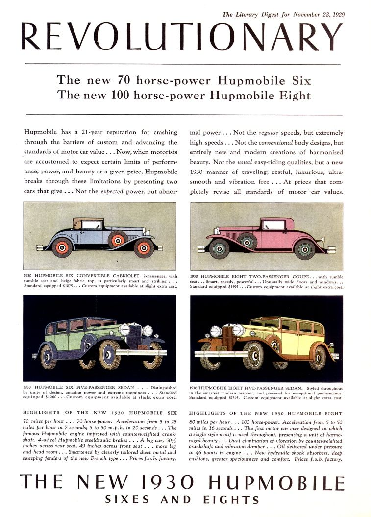 Pin by Jon Amstutz on Hupmobile ads n photos | Pinterest | Cars
