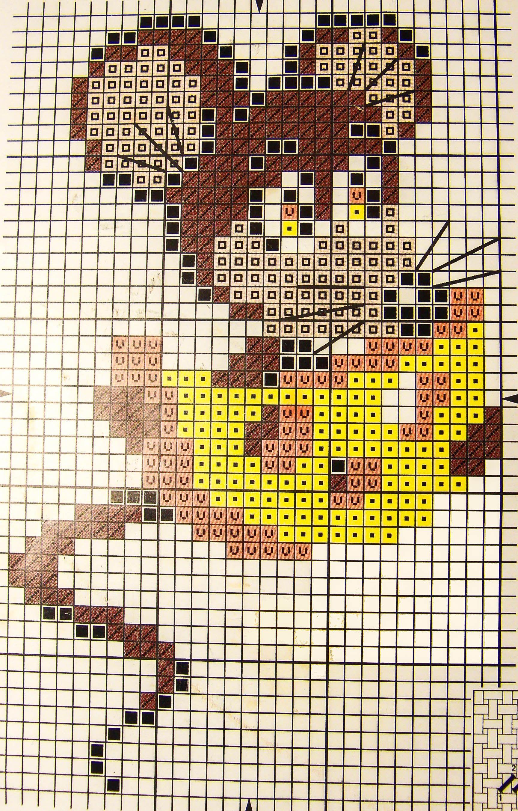 Схема вышивки крестом бесплатно мыши