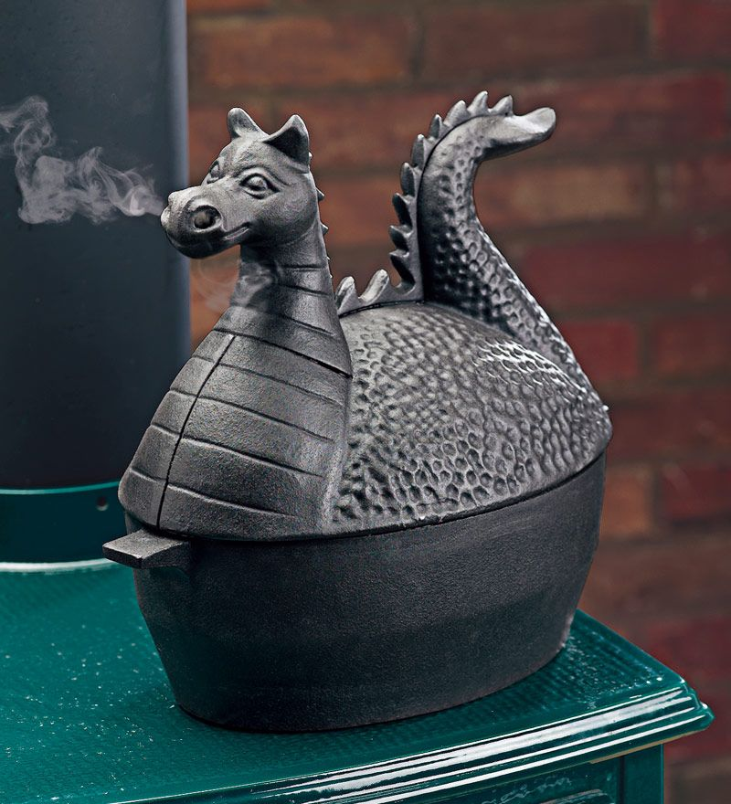The place for fireplace accessories since Shop our high-quality selection  of fireplace tools, fireplace grates, andirons, firebacks, and ash buckets. - Dragon Woodstove Steamer. Jan Young You Need This! (You Might Need