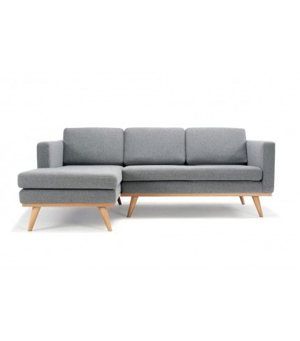 Johan 3 Seater Sofa W Chaiselong Left Andie Light Grey Oak Legs Sofa Ideer Chaiselong Sofa Med Chaiselong