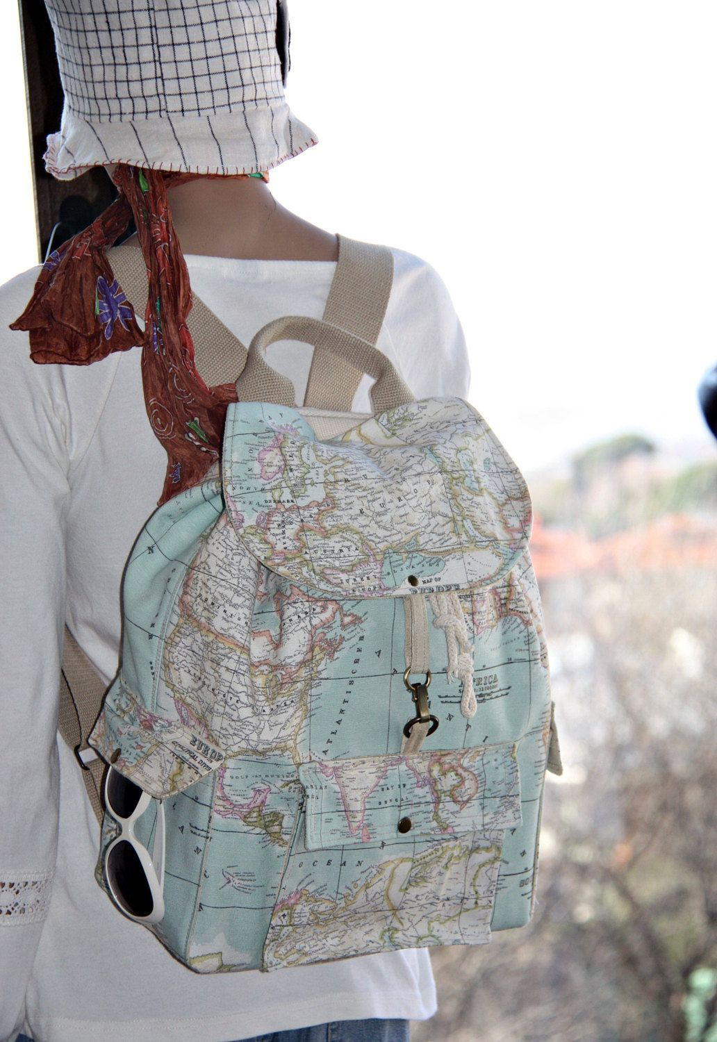 World map prints backpackatlas large backpacktravelschooldaily bag world map gumiabroncs Image collections