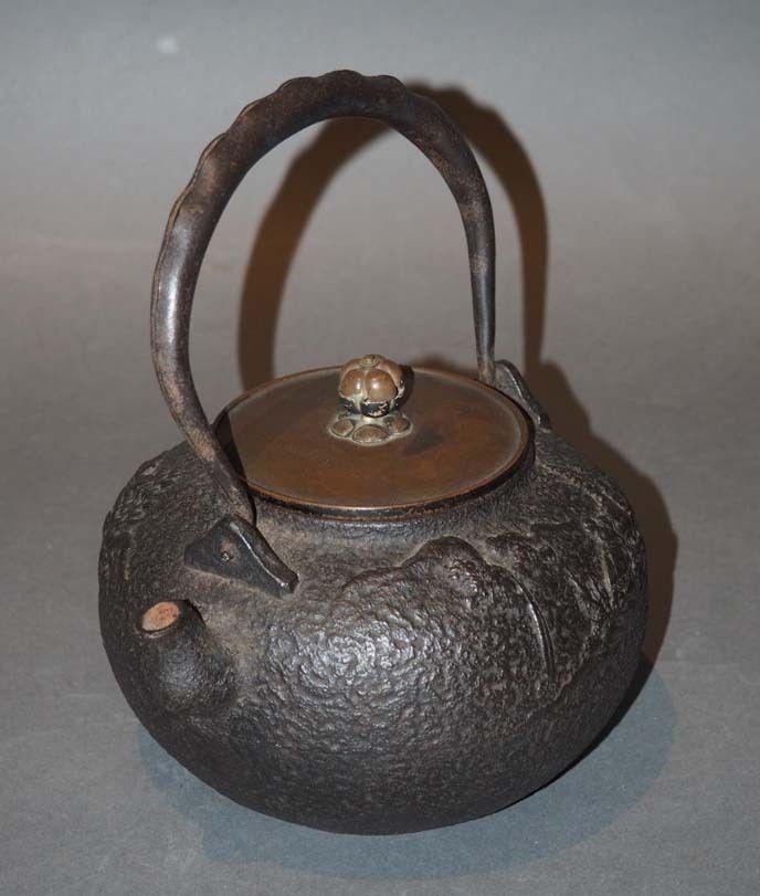 Japanese Antique Tetsubin Iron Teapot Kettle Ebay Tea Pots