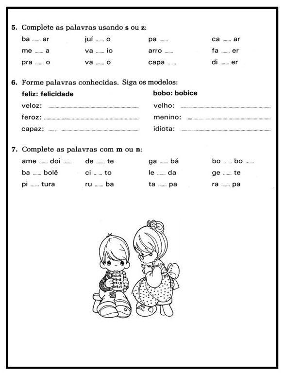 9ec949b5d05a0 Estas Atividades de Português com c, ç, s, ss, sc, z são destinadas ...