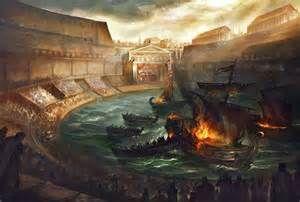 Roman Colosseum Naval Battles Bing Images Art Digital