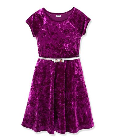 e49ff24229c This Purple Wine Belted Dress - Girls by RUUM is perfect!  zulilyfinds