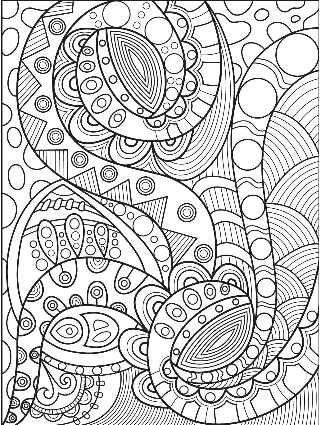 abstract coloring page # 1