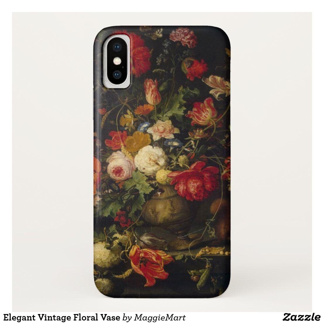 Elegant Vintage Floral Vase Case-Mate iPhone Case