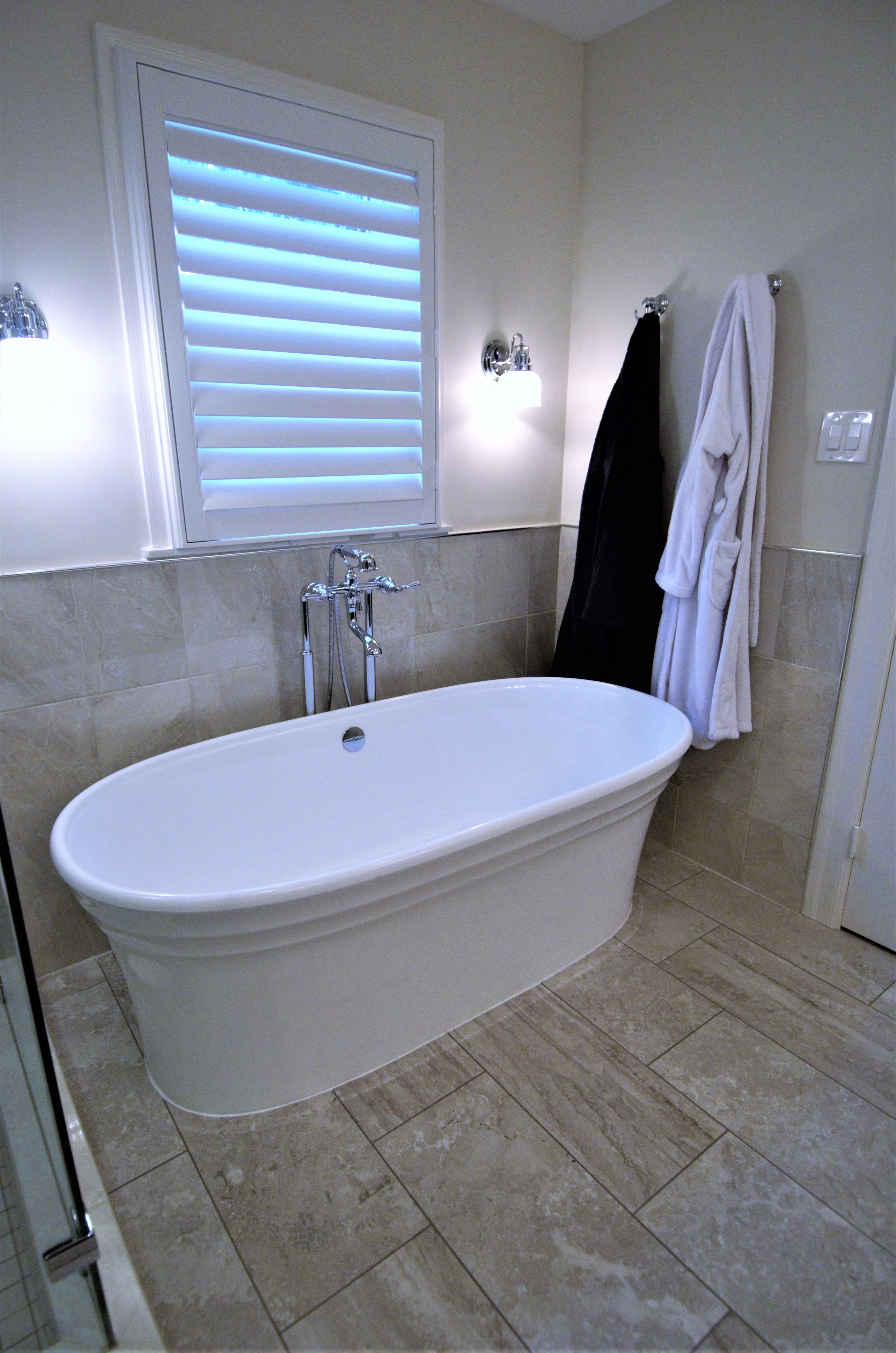 Luxury is known by soaker tubs like this, with a high overflow and ...