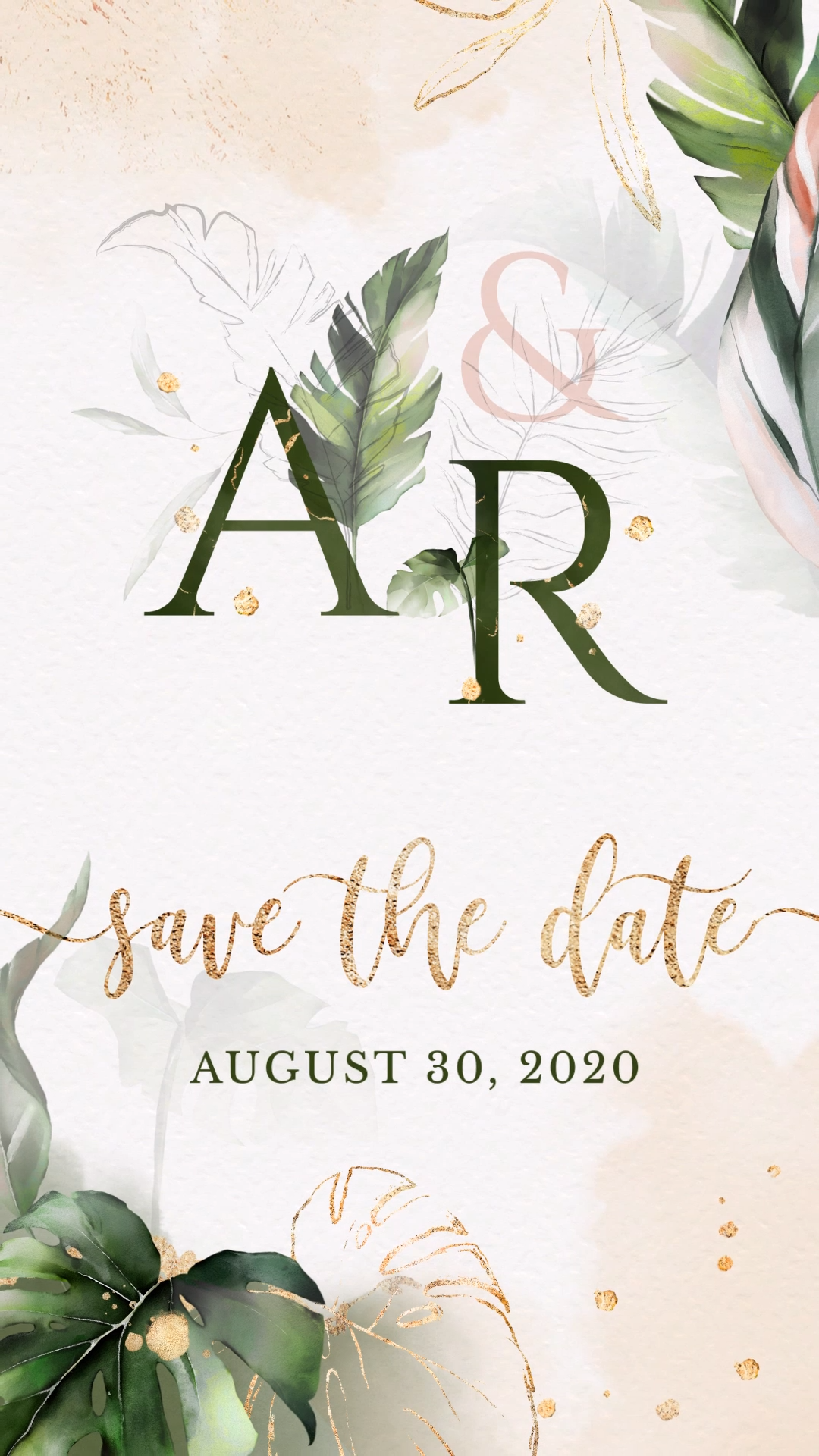 Tropical Save The Date Video Video Video Caricature Wedding Invitations Electronic Wedding Invitations Wedding Invitation Video
