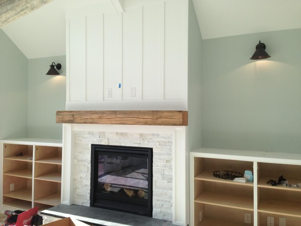 Fireplace With Board Batten Corner Fireplace Makeover Farmhouse Fireplace Home Fireplace