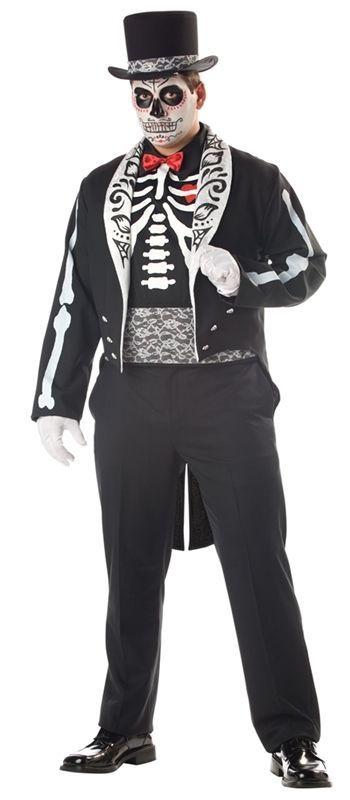 574c12984ab Details about Smiffys Day Of The Dead Suit Dia De Los Muertos Mens ...