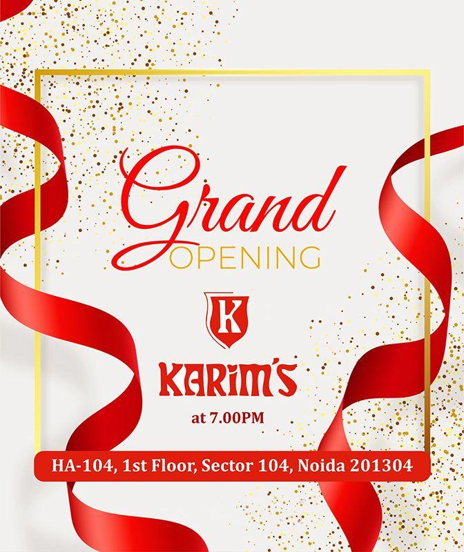 Karim's Restaurants Grand Opening of Karim's Restaurant at Sector 104, Noida.