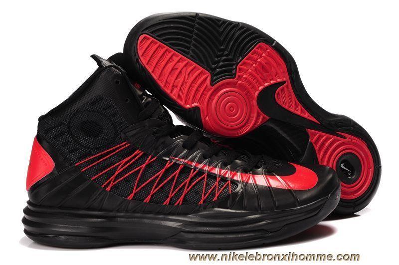 Les Chaussures Des Femmes Noir Rouge Nike Lunar Hyperdunk 2013