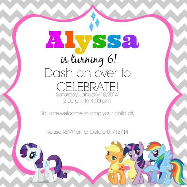My Little Pony Birthday Party Ideas Coupons Are Great Party - My little pony birthday party invitation template