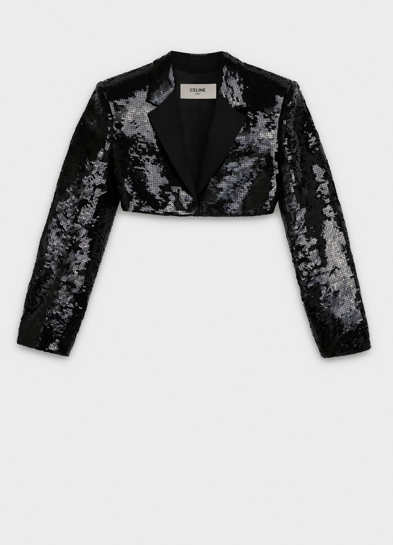 7f8ba47436c74 Short spencer jacket in embroidered wool crepe   CELINE   Style in ...