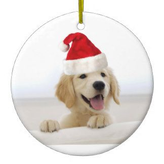 Golden Retriever Puppy Christmas Ornament Golden Retriever
