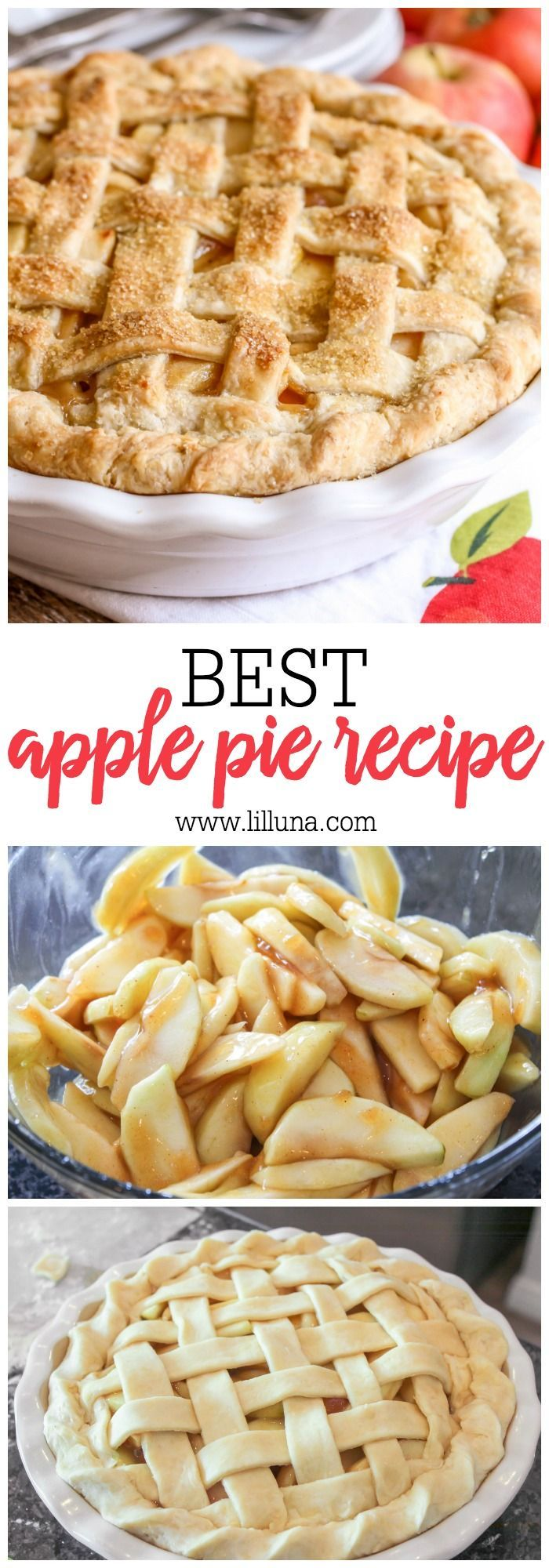 BEST Homemade Apple Pie - Step by Step (+VIDEO) | Lil' Luna